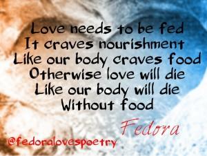 Feeding Love by Fedora