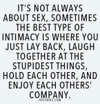 Just some of my thoughts on... Intimacy