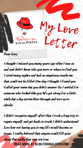 My Love letter by Fedora Pt 1